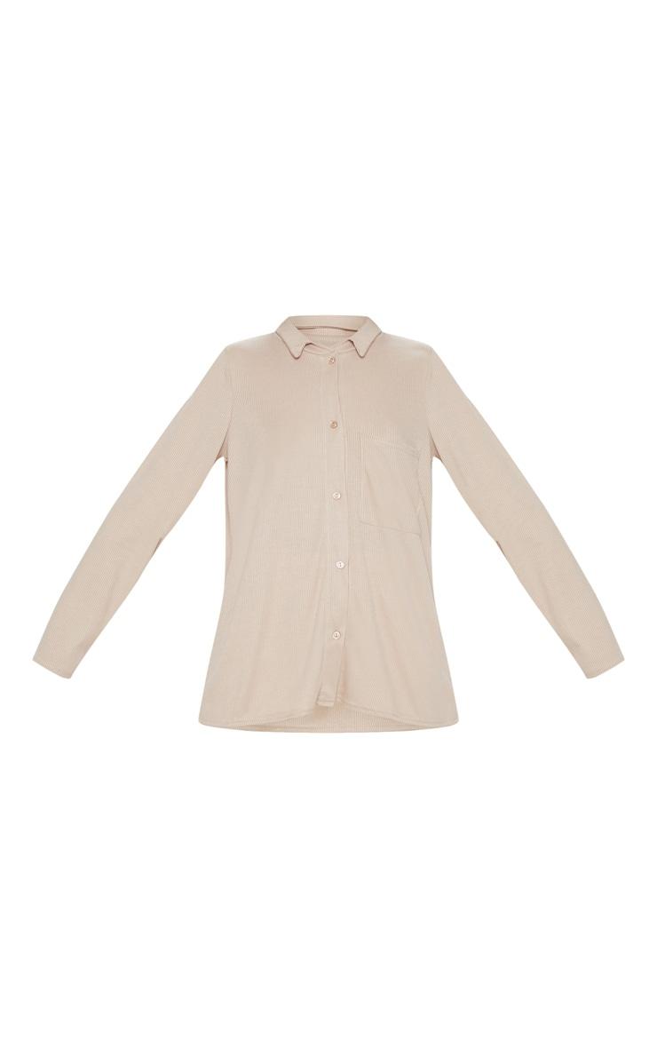 Sand Rib Oversized Shirt 3