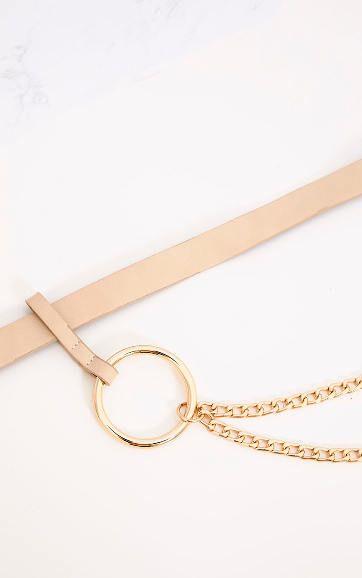 Nude Chain Attachment Waist Belt 5
