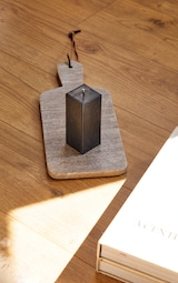 Black Cubed Groove Detail Soy Wax Candle 1