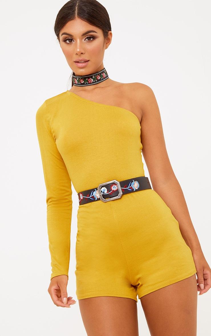 Lola Black Embroidered Belt 2