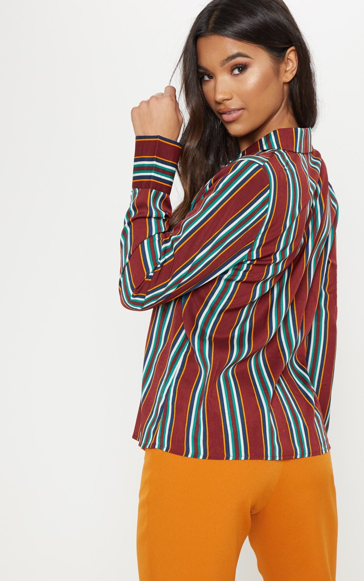 Burgundy Stripe Shirt 2