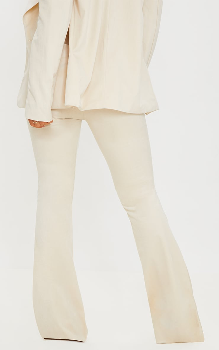 Cream Cord Flared Trousers 3