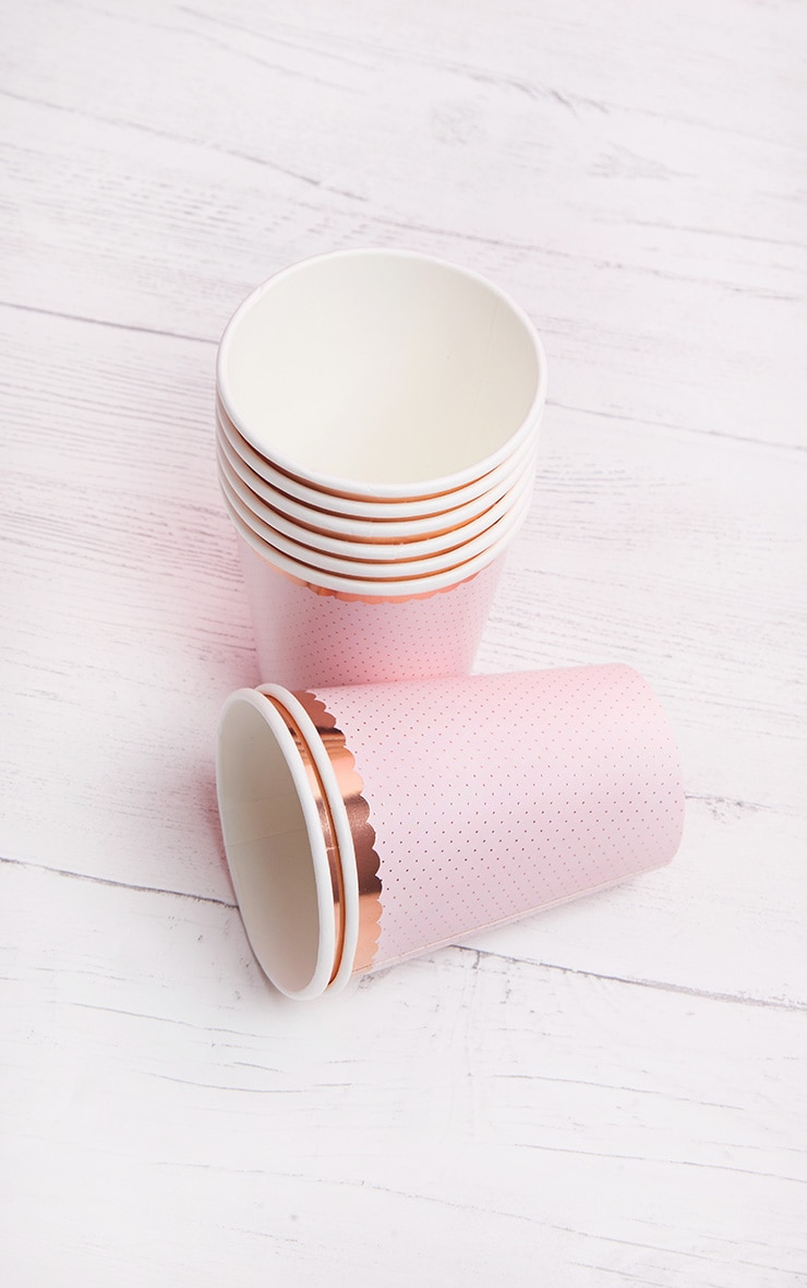 Ginger Ray Cup Polka Dot Rose Gold 2