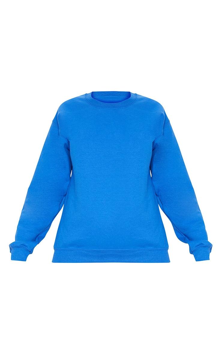 Sweat oversize bleu flashy classique 3