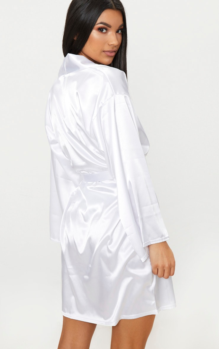 White Satin Robe 2
