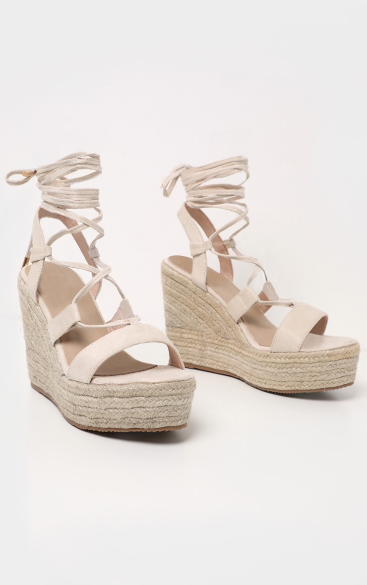 Nude Ghillie Espadrille Wedge 3