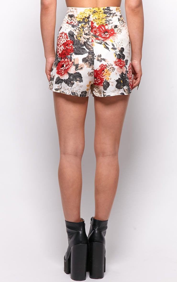 Giselle Floral Print High Waist Shorts 2
