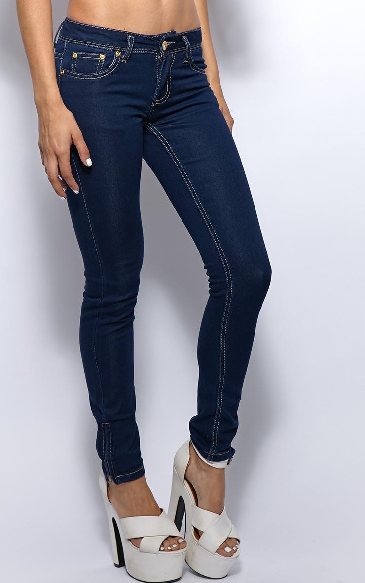 Ola Plain Dark Blue Skinny Jeans  4