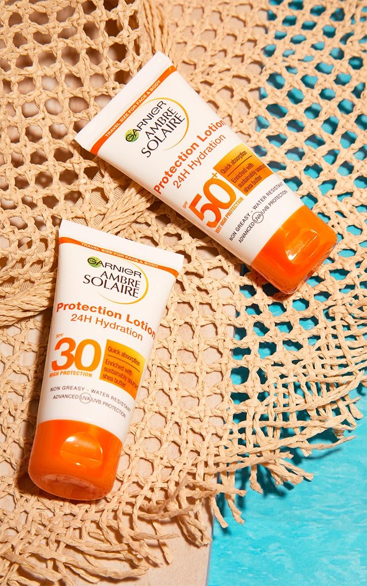 Garnier Ambre Solaire Mini Ultra-Hydrating Shea Butter Sun Protection Cream SPF50+ 50ml Travel 4