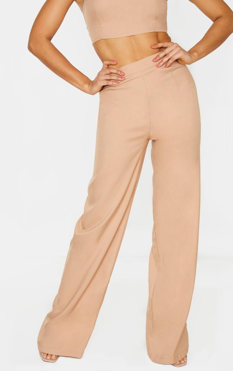 Tall Camel Woven Wide Leg Trouser  2
