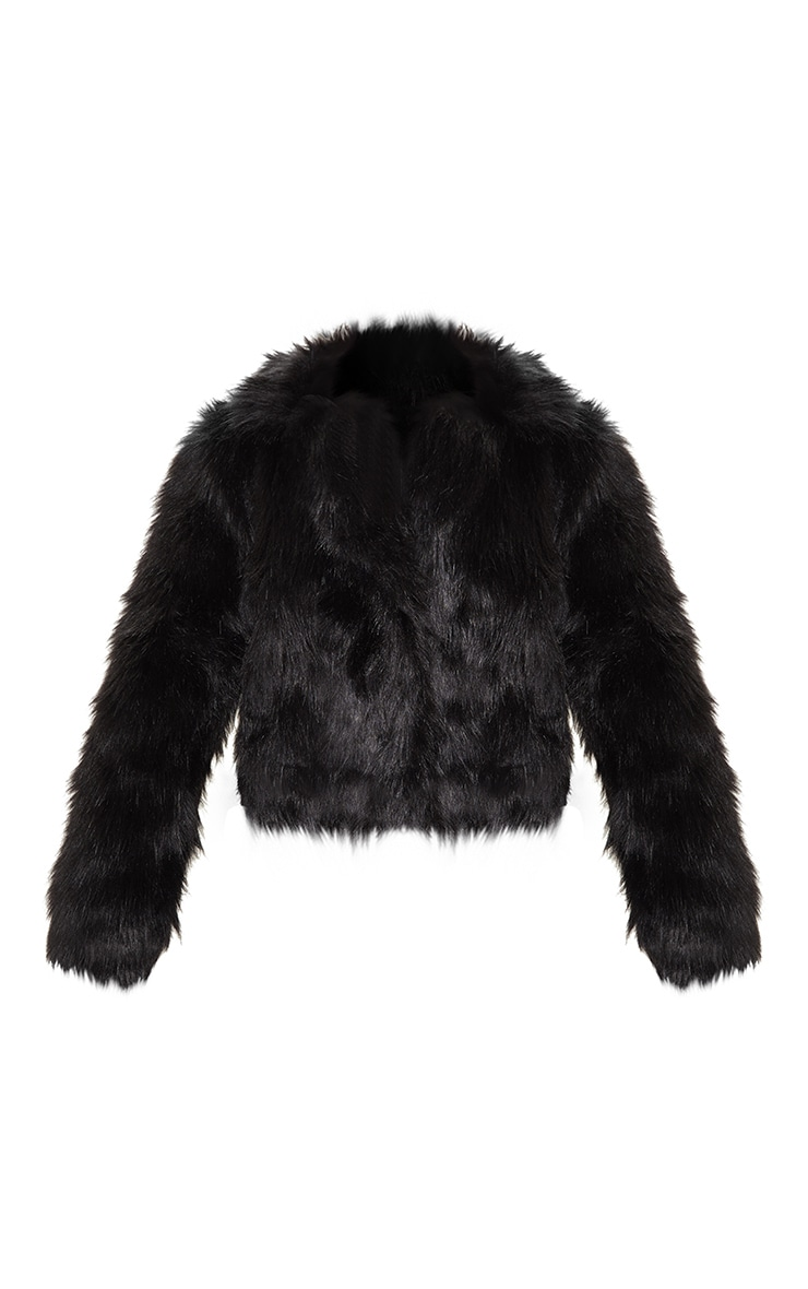 Black Faux Fur Jacket 3