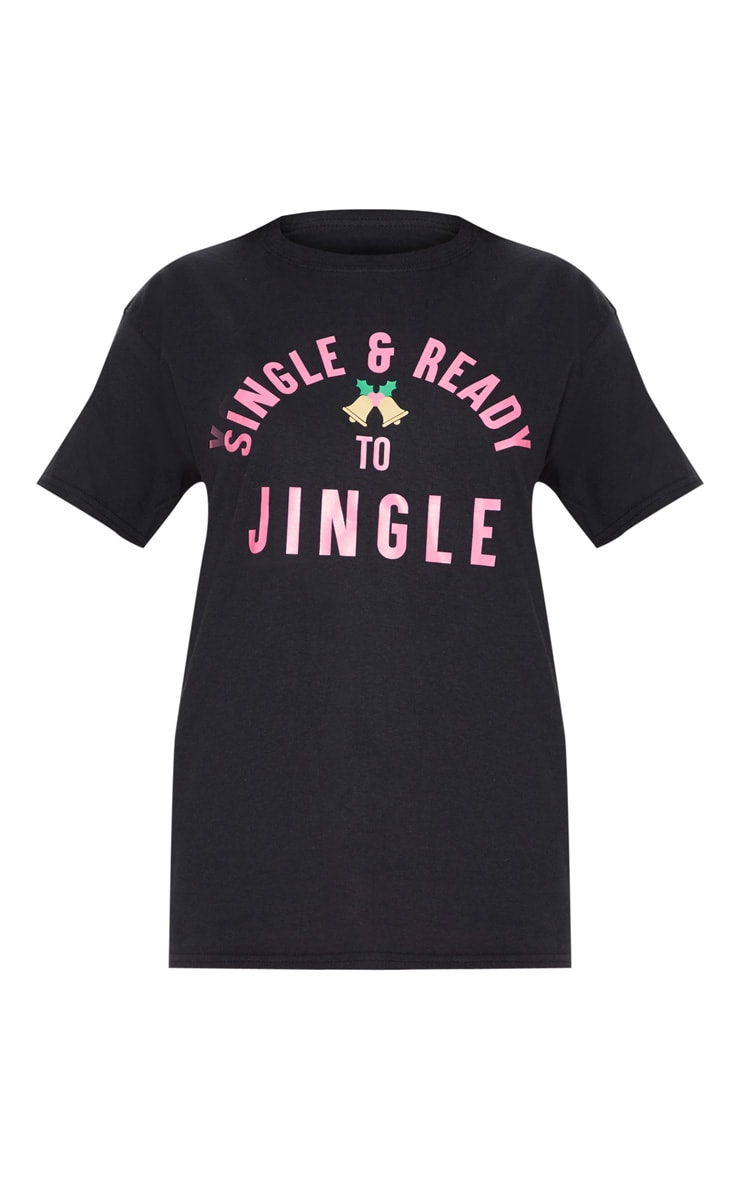 Black Christmas Single Printed T shirt 3