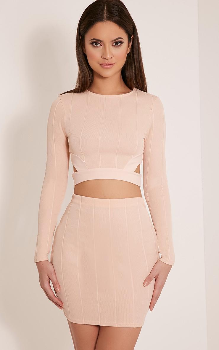 Miriam Nude Bandage Mini Skirt | Mini Skirts