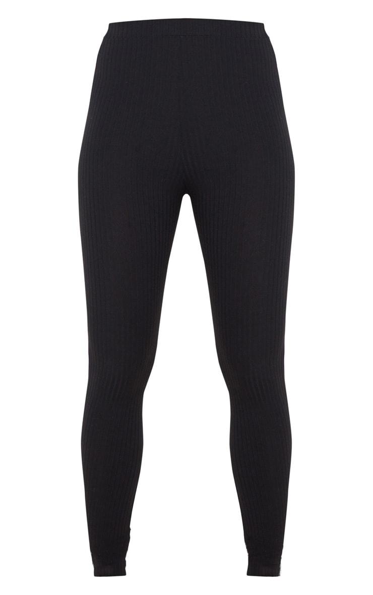 Black Ribbed Legging 5