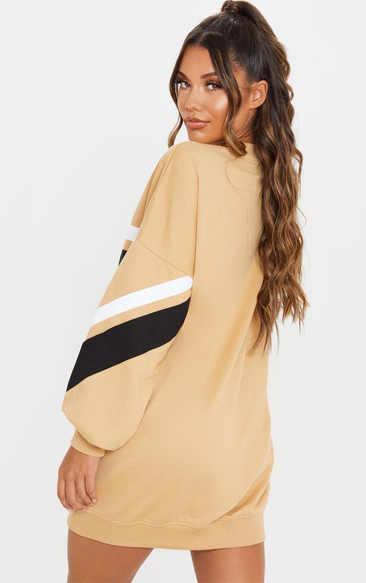 Biscuit Contrast Stripe Detail Sweat Dress 2