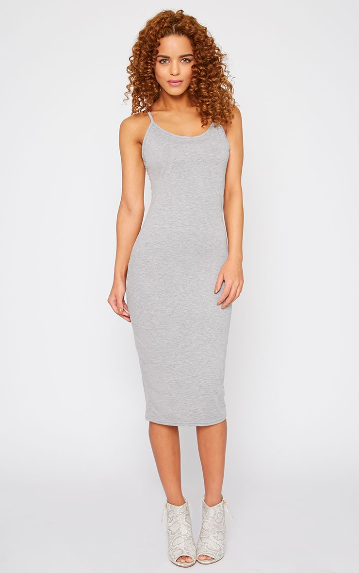 Basic Grey Midi Dress 4