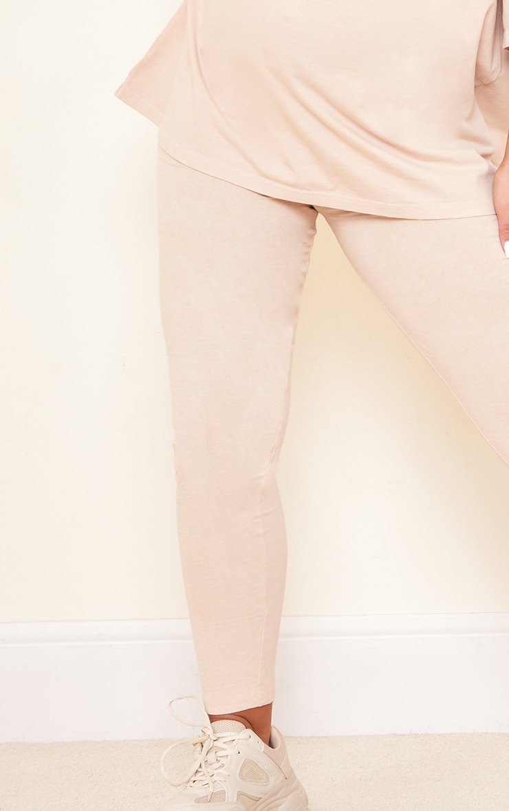 Maternity Stone Bump Support Washed Cotton Leggings 4
