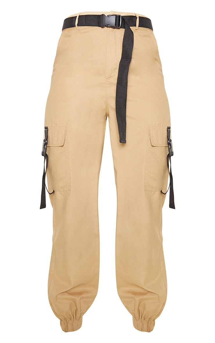 Stone Buckle Detail Belted Cargo Trouser 3