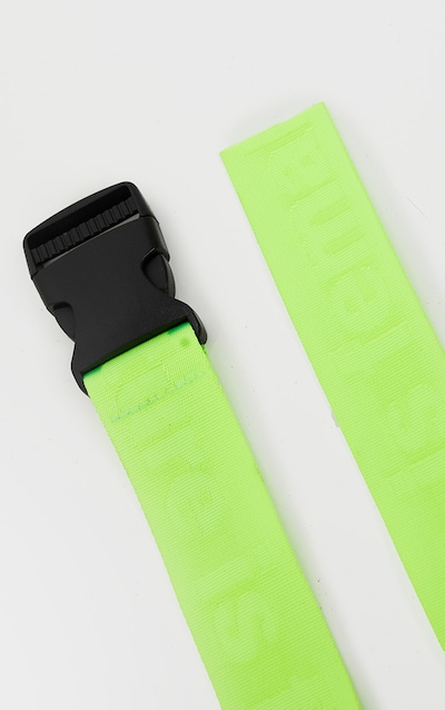 Lime Tonal The Future Is Female Slogan Tape Belt
