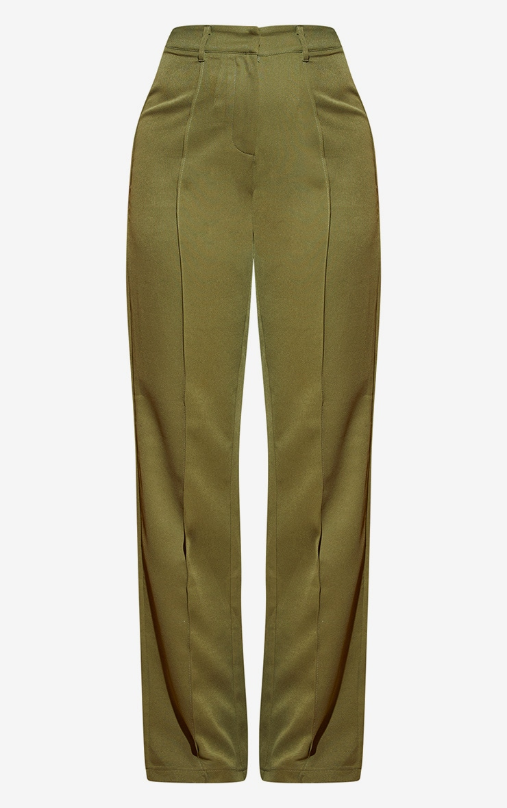 Khaki Wide Leg Pants  3