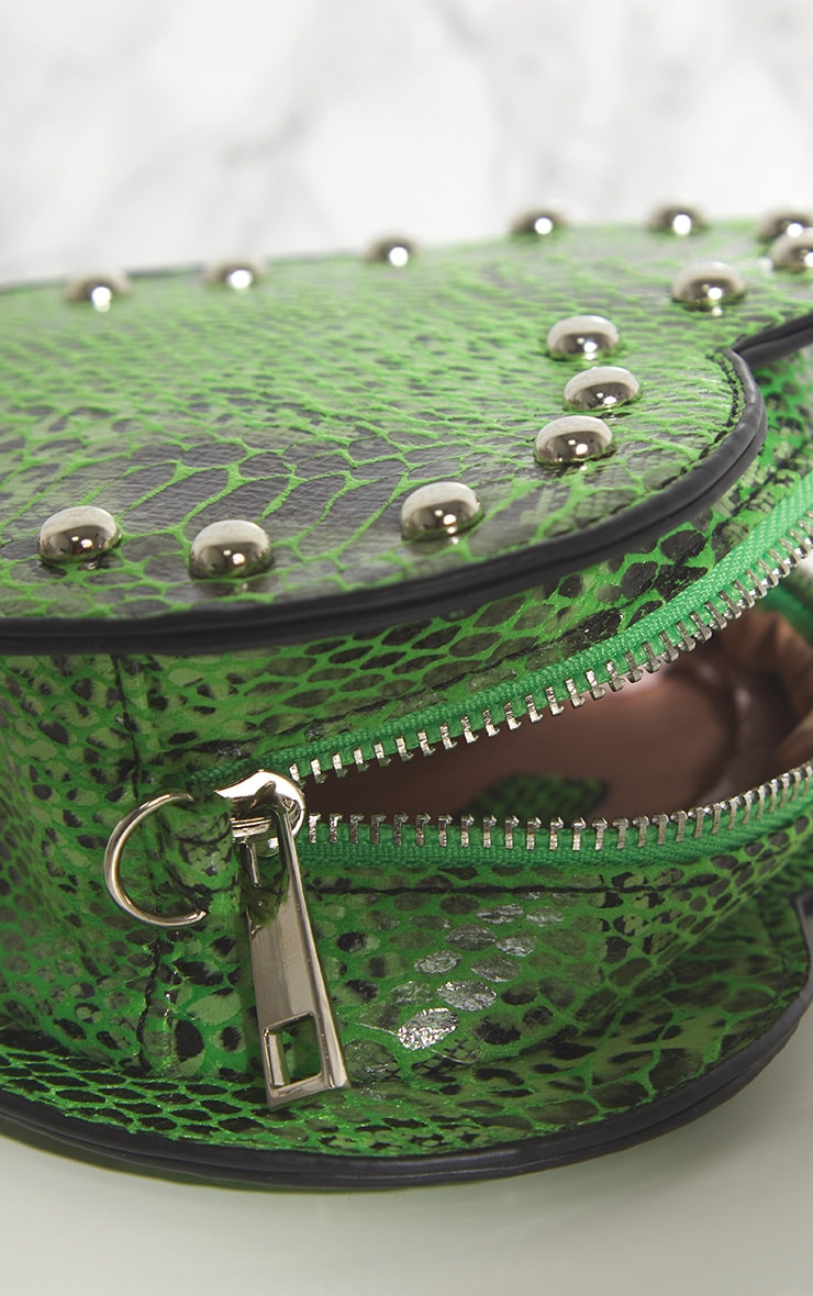 Lime Green Snake Cross Body Bag 6