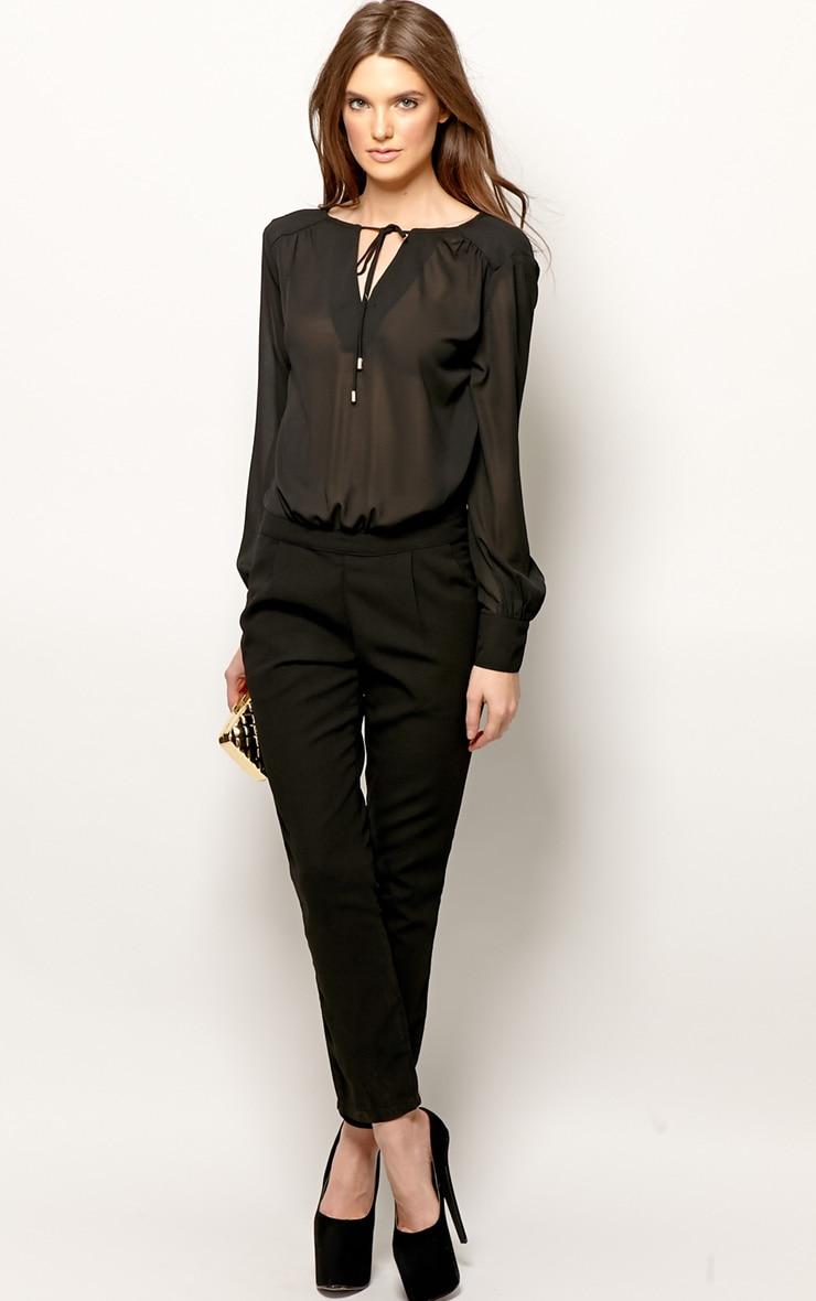 Cailin Black Chiffon Jumpsuit-M 1