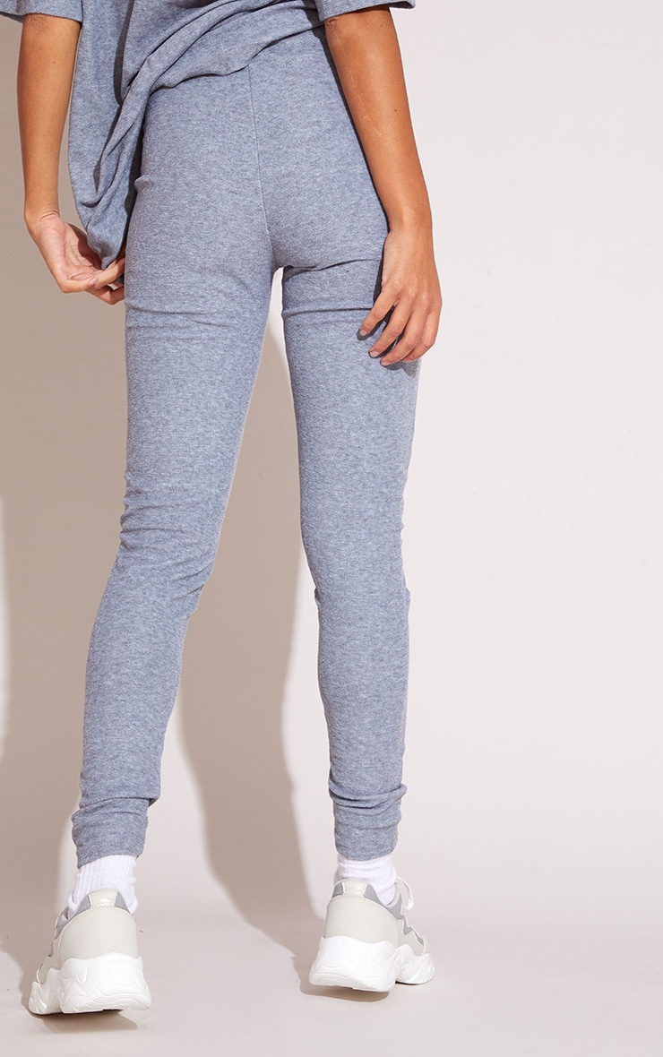 Grey Towelling Leggings 3
