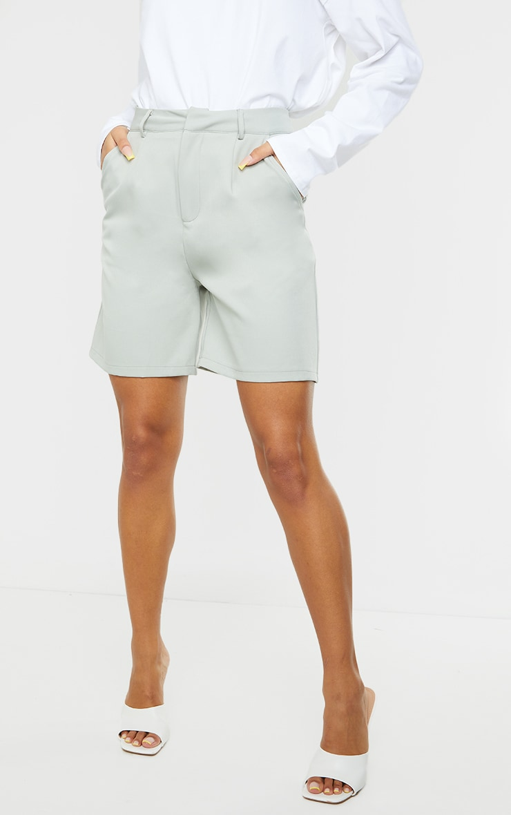 Soft Mint Woven Tailored Shorts 2