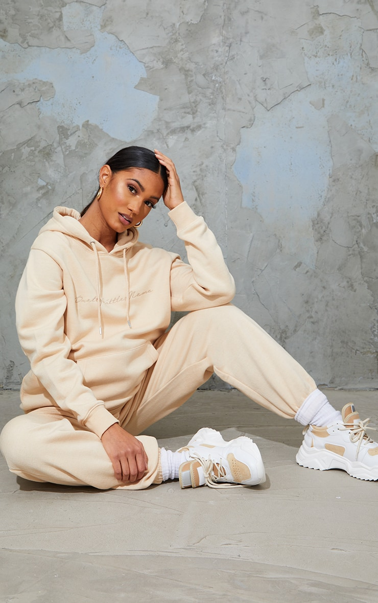 PRETTYLITTLETHING Maternity Camel Embroided Hoodie 3