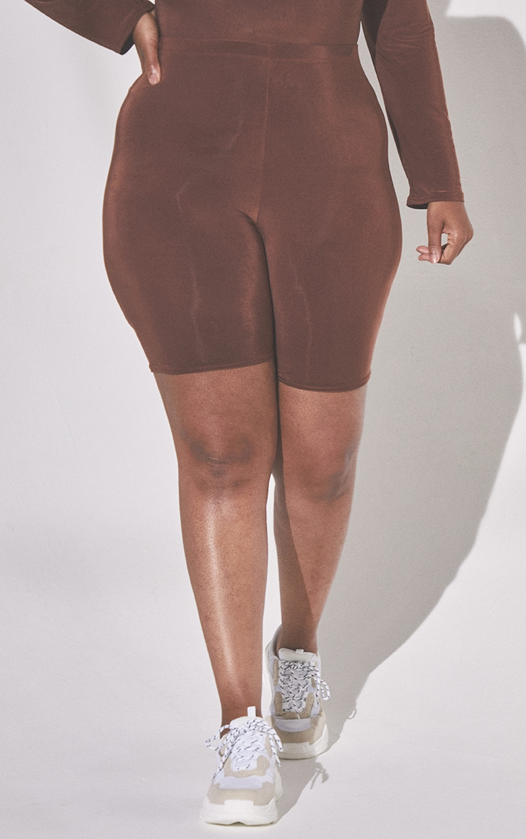 Plus Second Skin Espresso Cycle Shorts 2