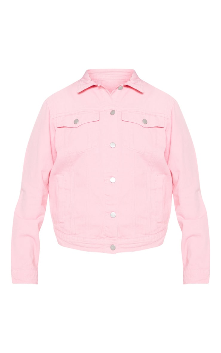 Baby Pink Boyfriend Fit Denim Jacket 3
