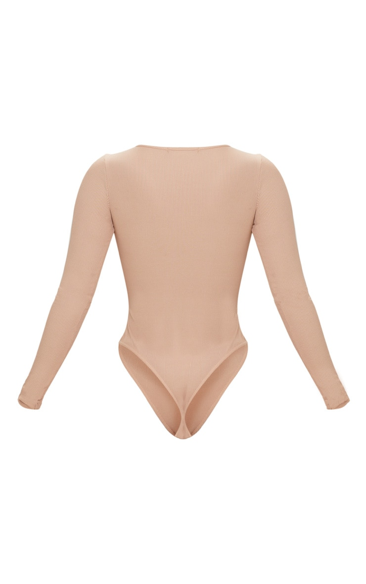 Shape Stone Ribbed Long Sleeve Bodysuit 4