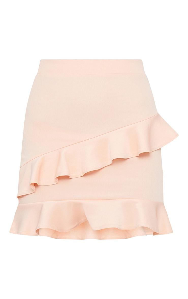 Blush Scuba Double Frill Mini Skirt 3