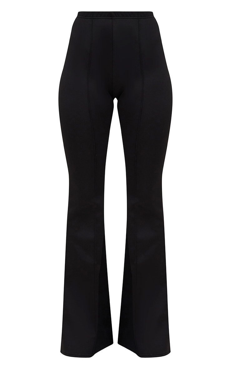 Black High Waist Extreme Flare Long Leg Trousers 3