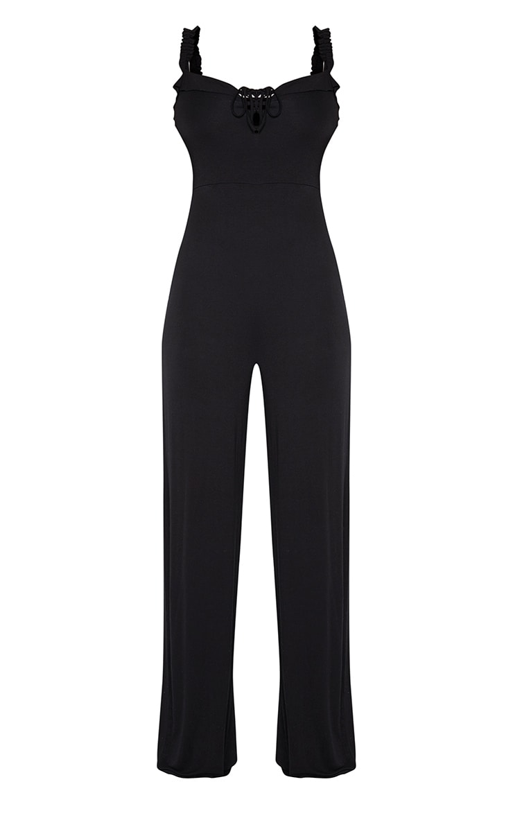 Tall Black Wide Leg Jumpsuit 3