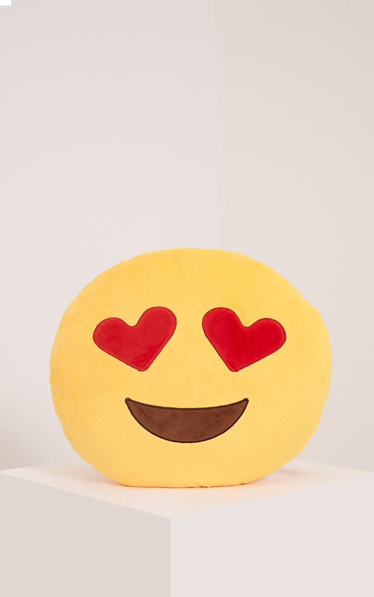 Love Heart Eyes Emoji Face Cushion 1