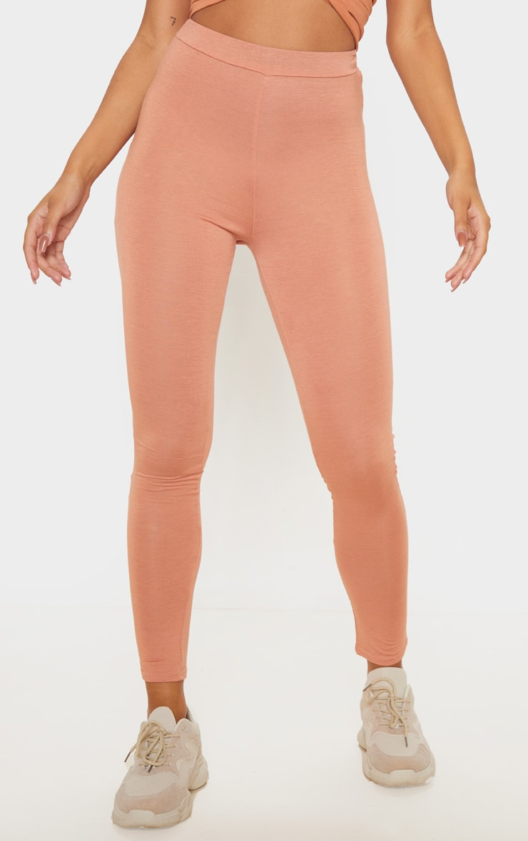 Chestnut Ruched Back Jersey Legging 2