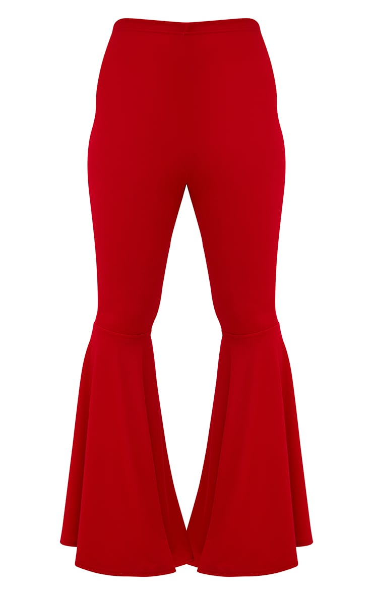 Plus Red Fit and Flare Leg Trousers 3