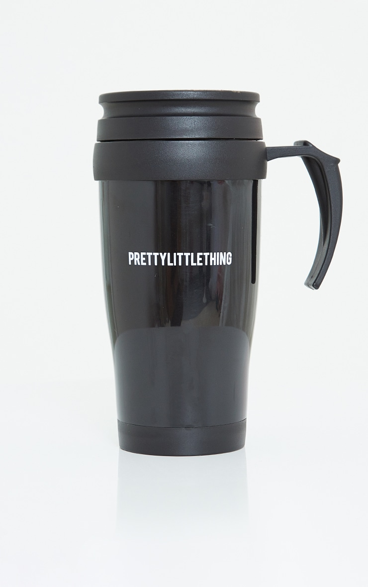 PRETTYLITTLETHING Black Travel Mug 3