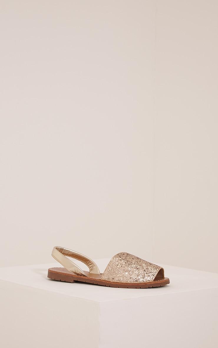 Luciana Gold Glitter Sandals 3