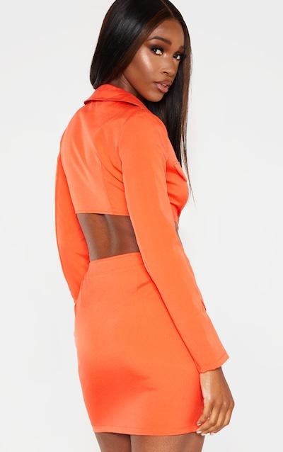 Bright Orange Utility Cut Out Bodycon Dress