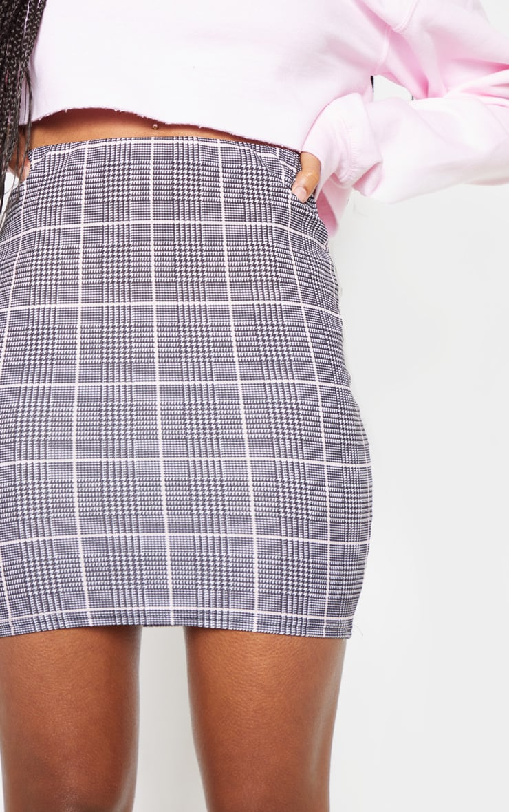 Grey Check Mini Skirt 6