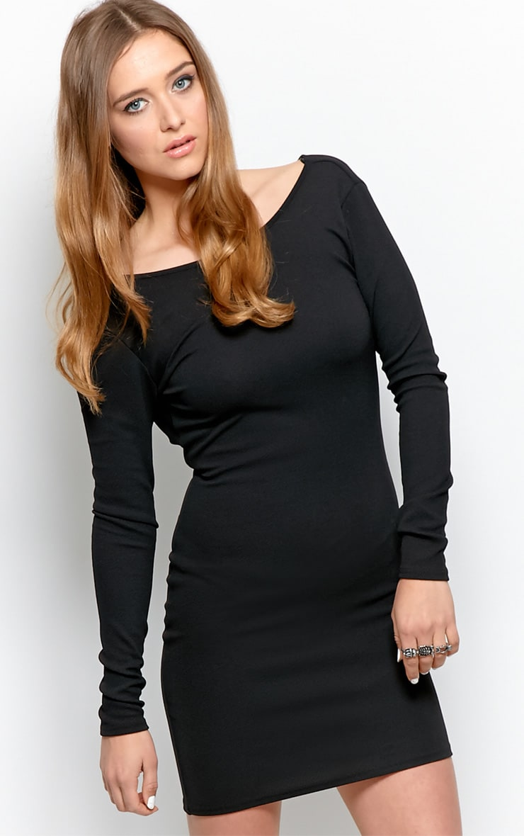 Gracie Black Cowl Back Dress 5