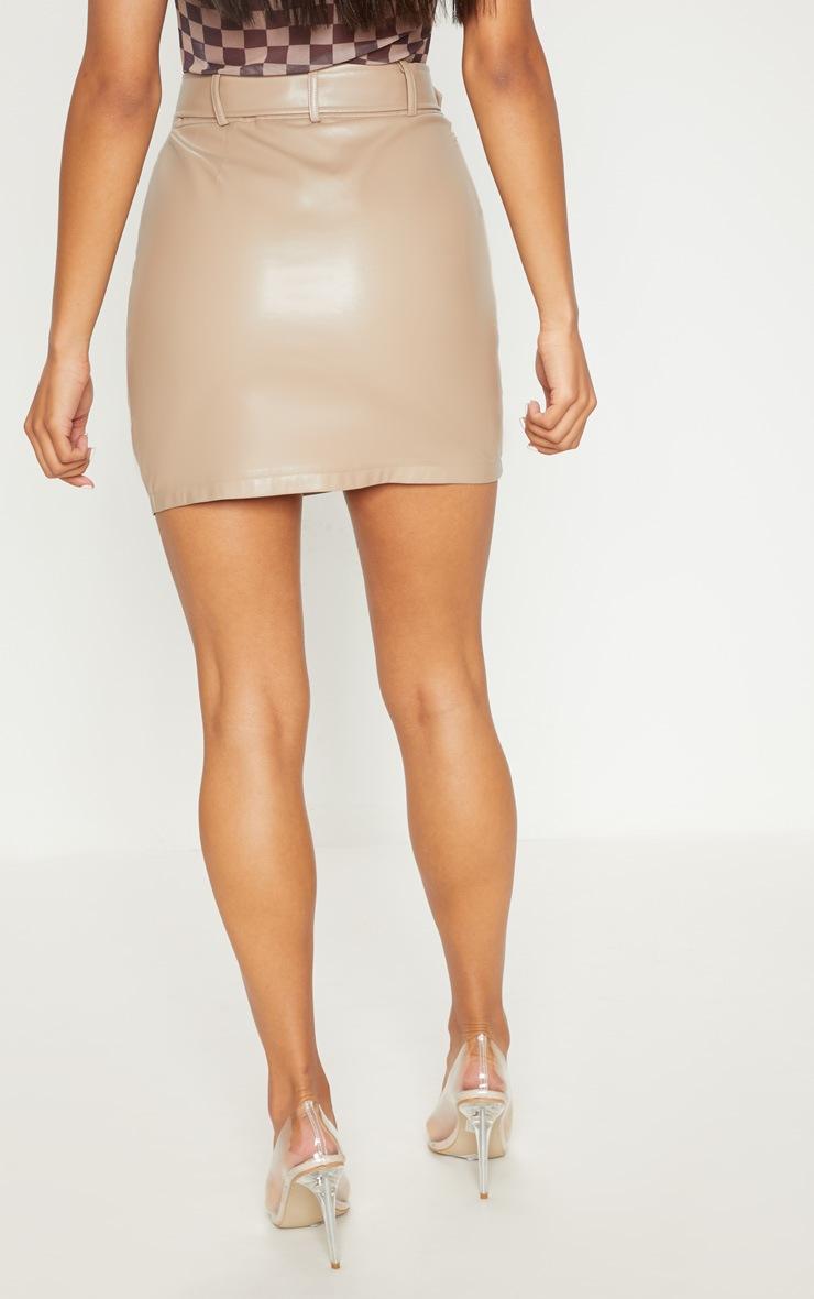 Stone Biker Belted Mini Skirt 4