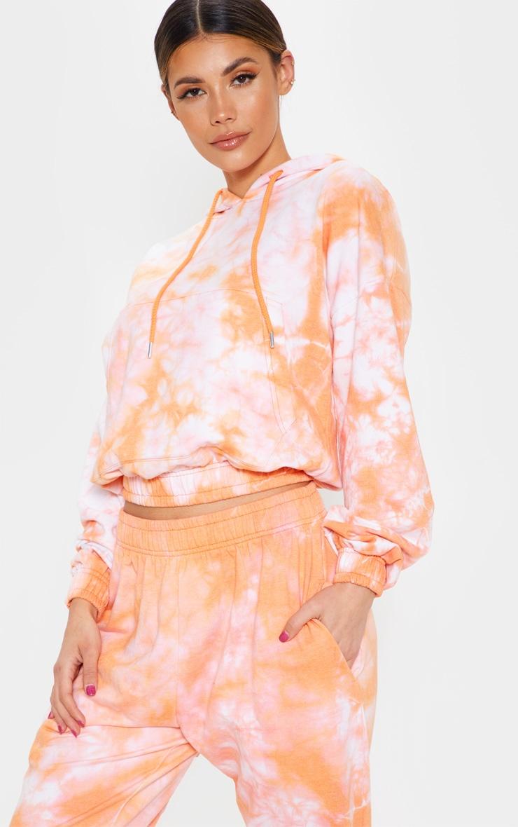 Orange Tie Dye Oversized Hoodie 5