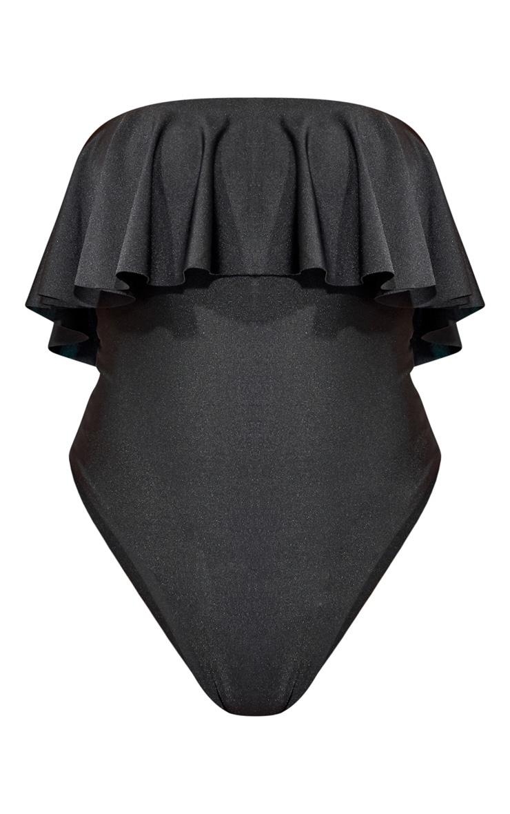 Black Strapless Frill Swimsuit 3
