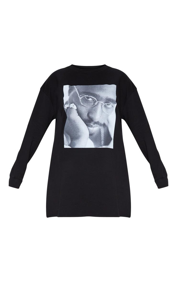 Tupac Black Glasses Oversized Jumper Dress 3
