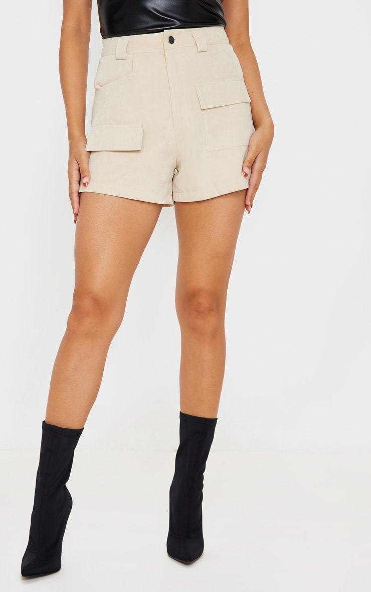Stone Faux Suede Pocket Detail Short 2