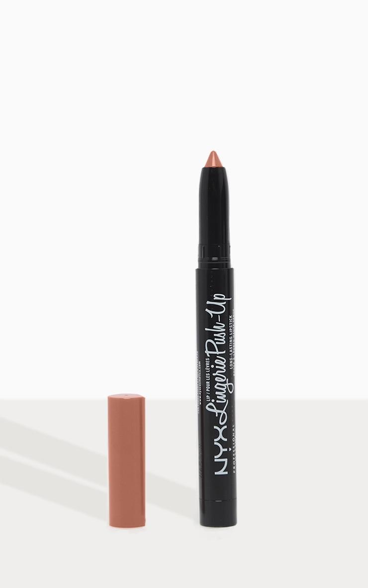 NYX PMU Lip Lingerie Matte Plumping Nude Lipstick Lace Detail 1