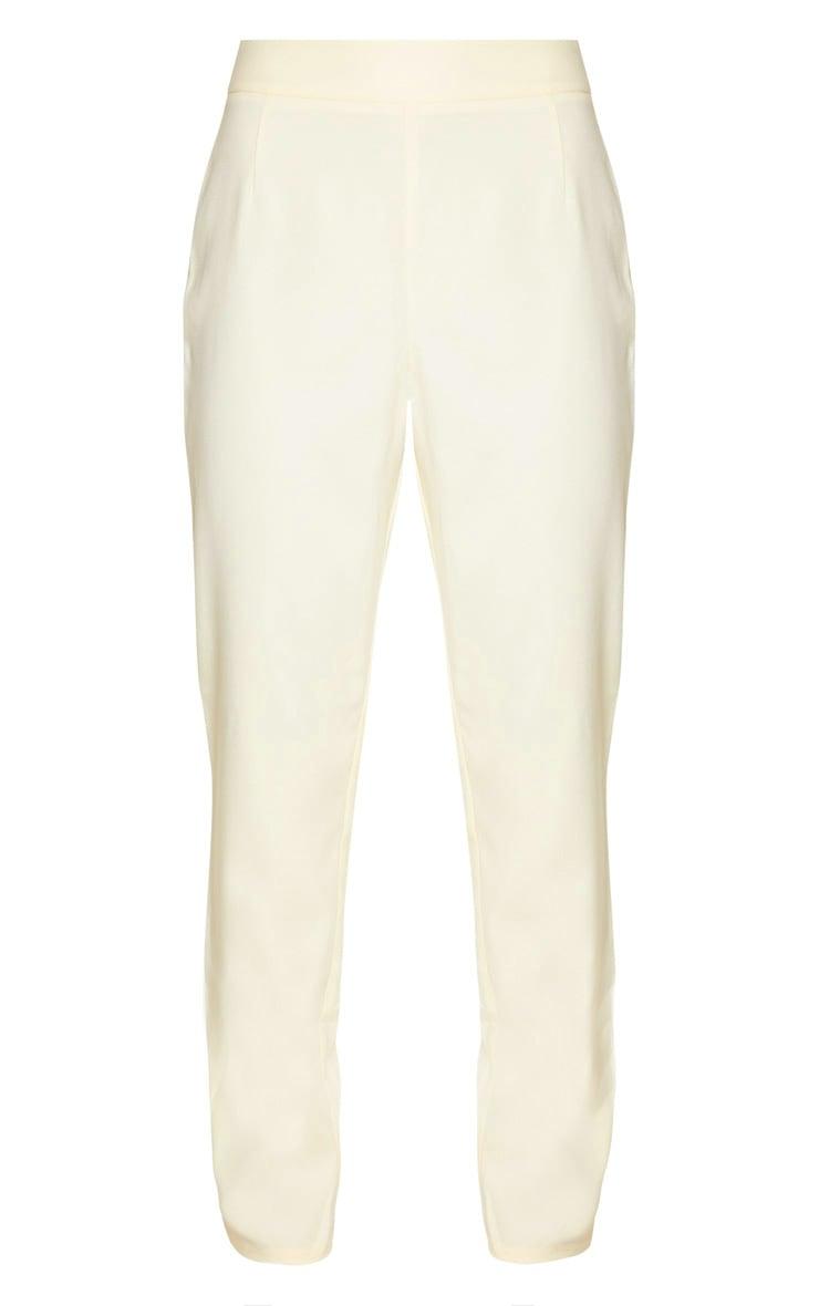 Lemon Woven High Waisted Cigarette Pants 5